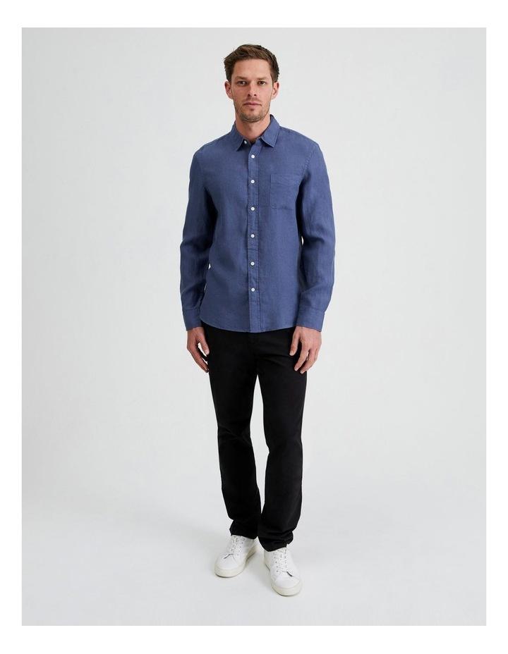 Bodega Linen Regular Collar Long Sleeve Shirt image 5