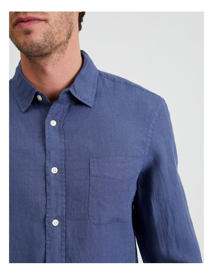 Bodega Linen Regular Collar Long Sleeve Shirt image 6
