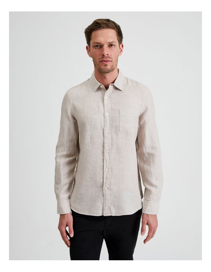 Bodega Linen Regular Collar Long Sleeve Shirt image 1