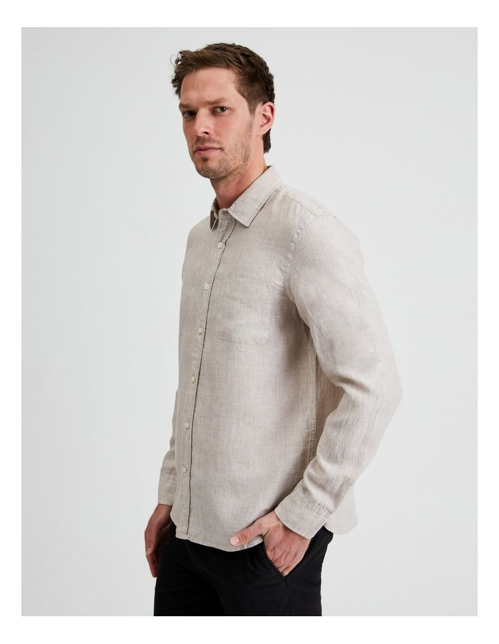 Bodega Linen Regular Collar Long Sleeve Shirt image 3