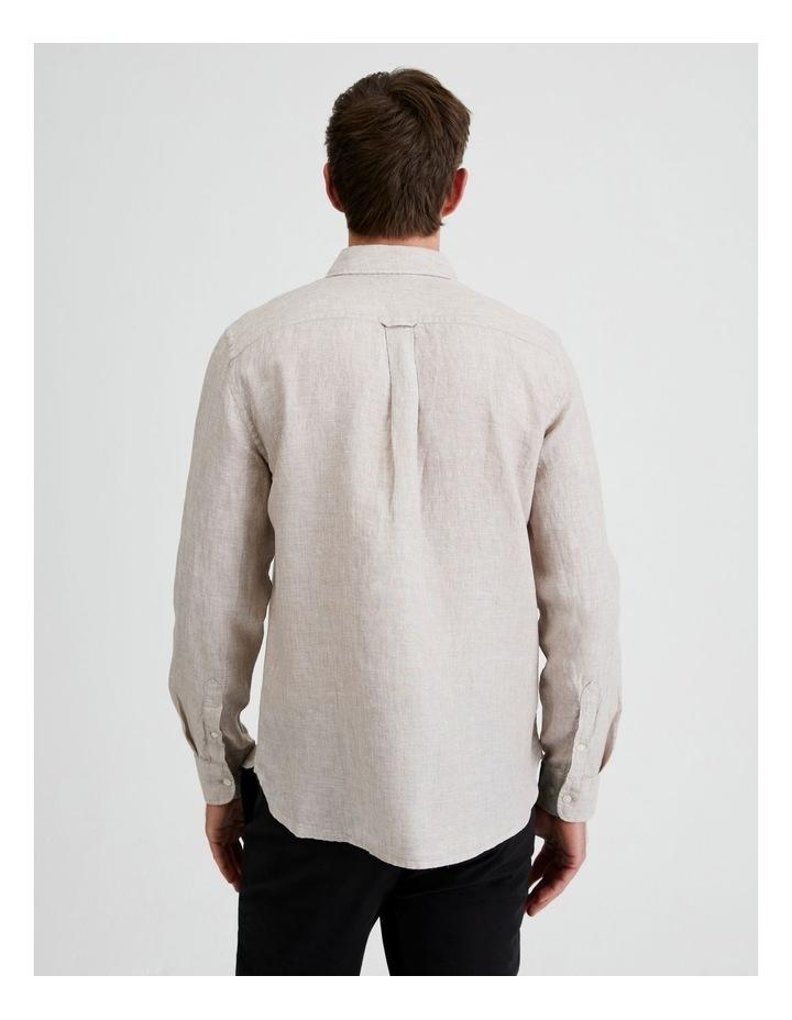 Bodega Linen Regular Collar Long Sleeve Shirt image 4