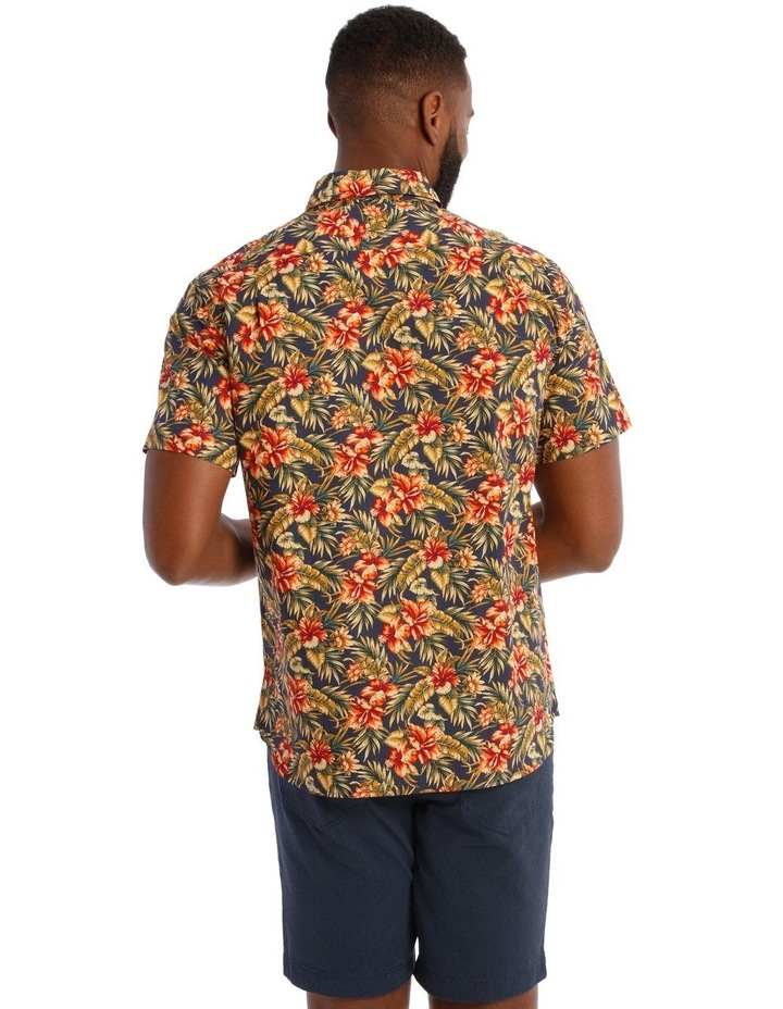Sienna Floral Short Sleeve Print Shirt in Red image 3