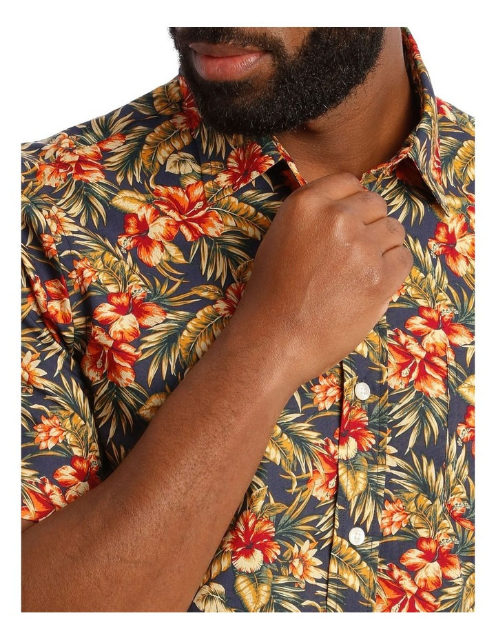 Sienna Floral Short Sleeve Print Shirt in Red image 4