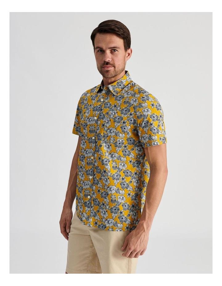 Merzouga Floral Print Short Sleeve Shirt Yellow image 3