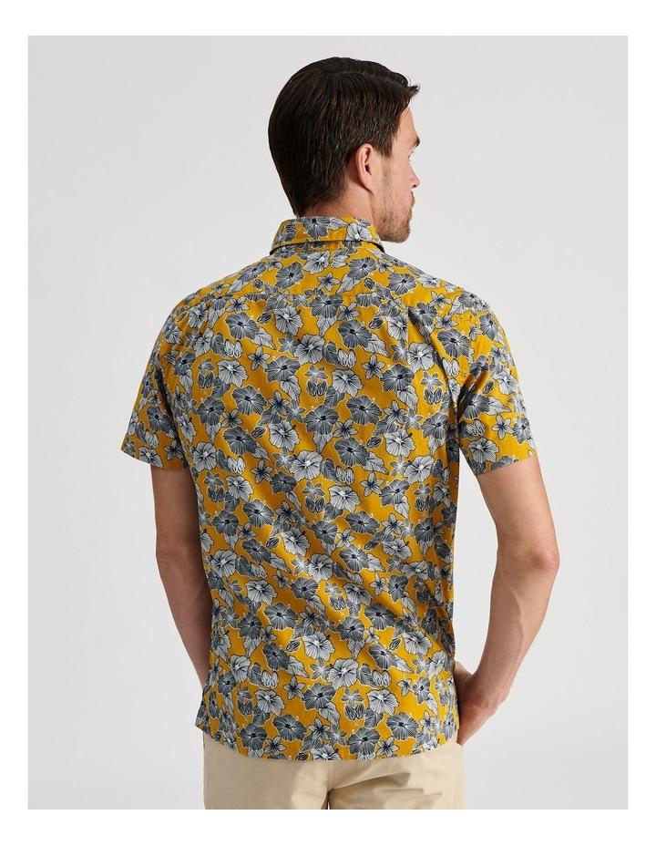 Merzouga Floral Print Short Sleeve Shirt Yellow image 4