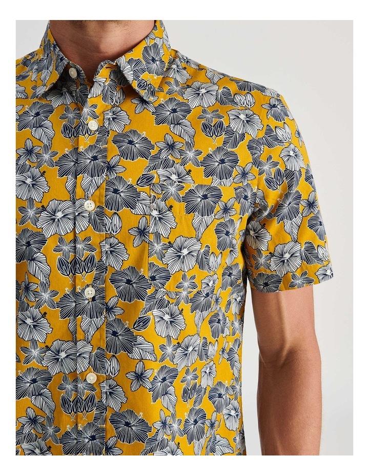 Merzouga Floral Print Short Sleeve Shirt Yellow image 5