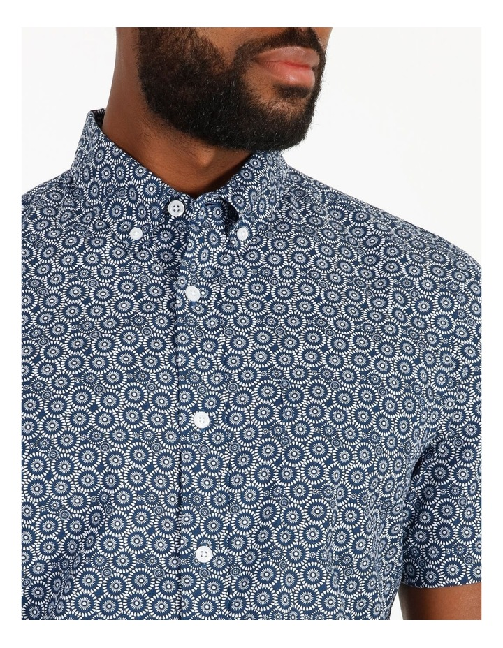 Gibson Short-Sleeve Floral Circle Print Shirt image 4