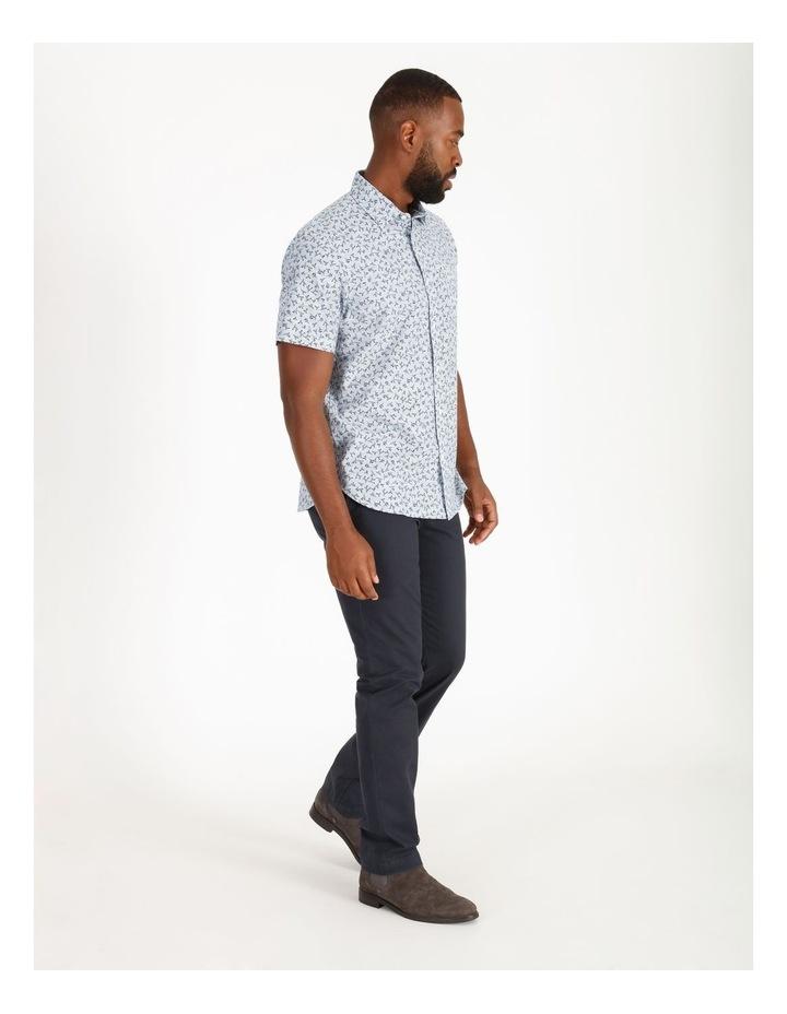 Campbell Short-Sleeve Twig Line Print Shirt image 2