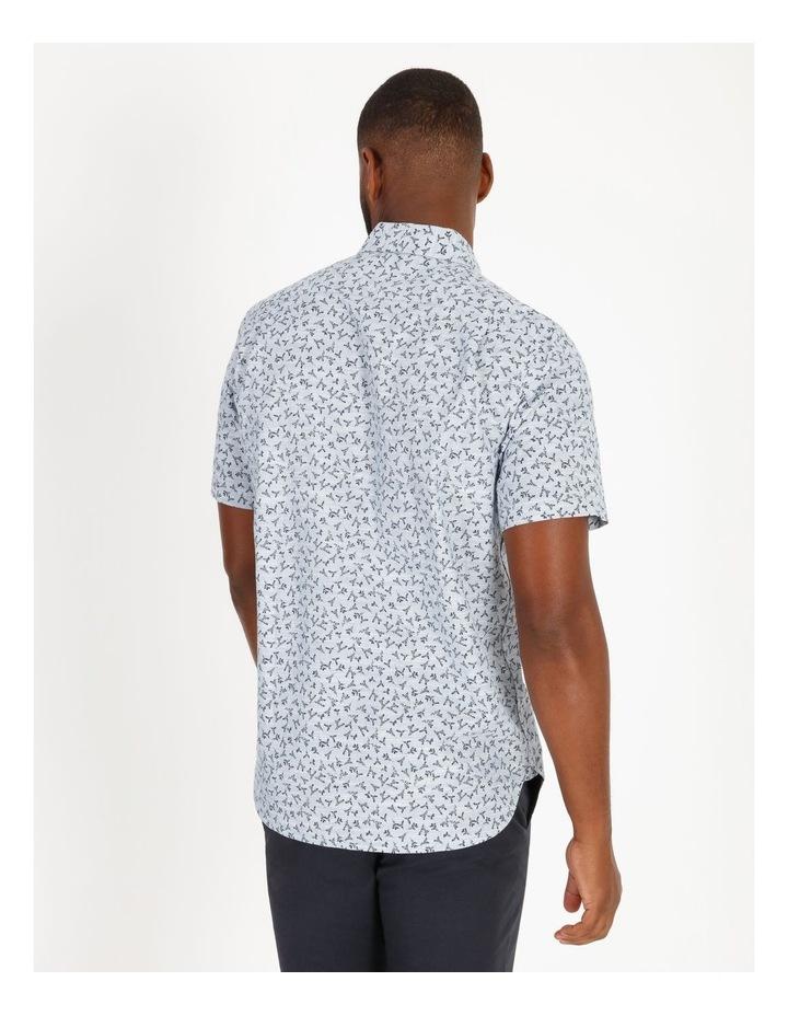 Campbell Short-Sleeve Twig Line Print Shirt image 3