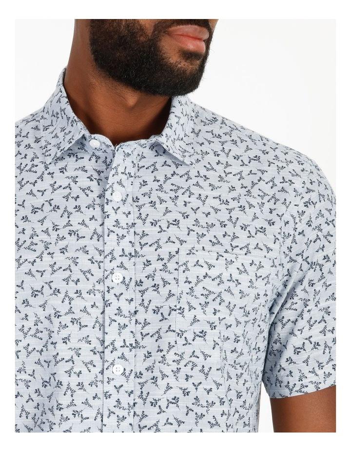 Campbell Short-Sleeve Twig Line Print Shirt image 4