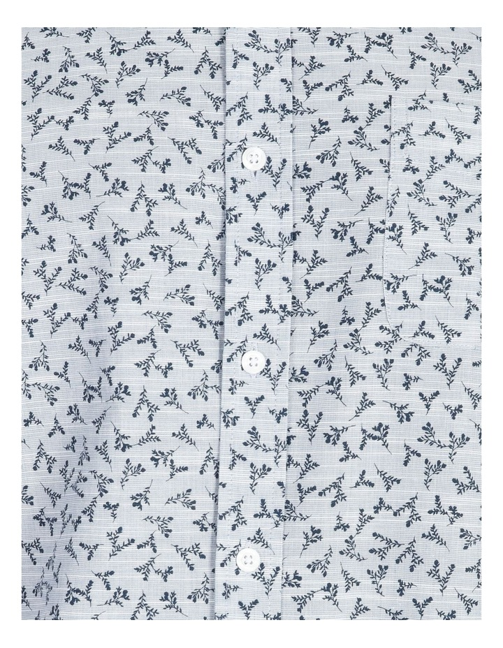 Campbell Short-Sleeve Twig Line Print Shirt image 5