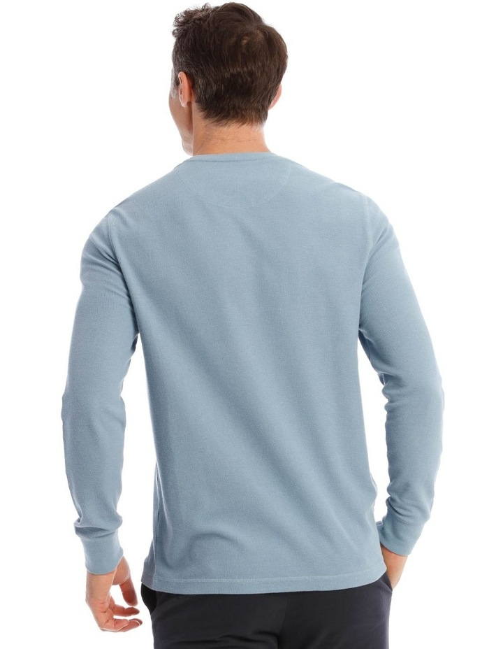 Lachclan Long-Sleeve Waffle-Knit T-Shirt In Artic Blue image 3