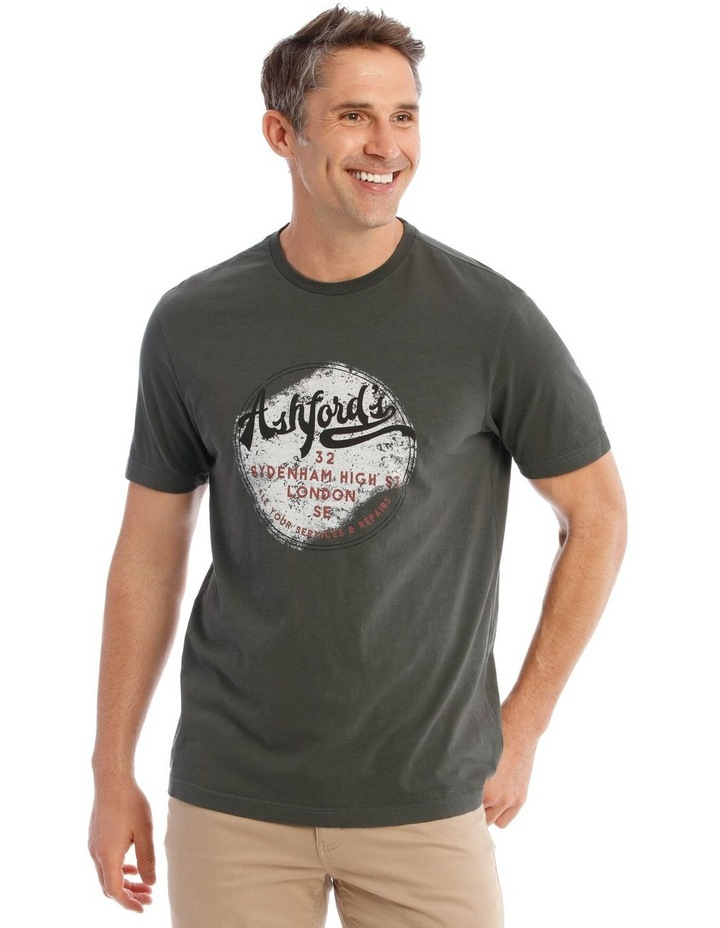 Ashford Graphic T-Shirt in Charcoal image 1