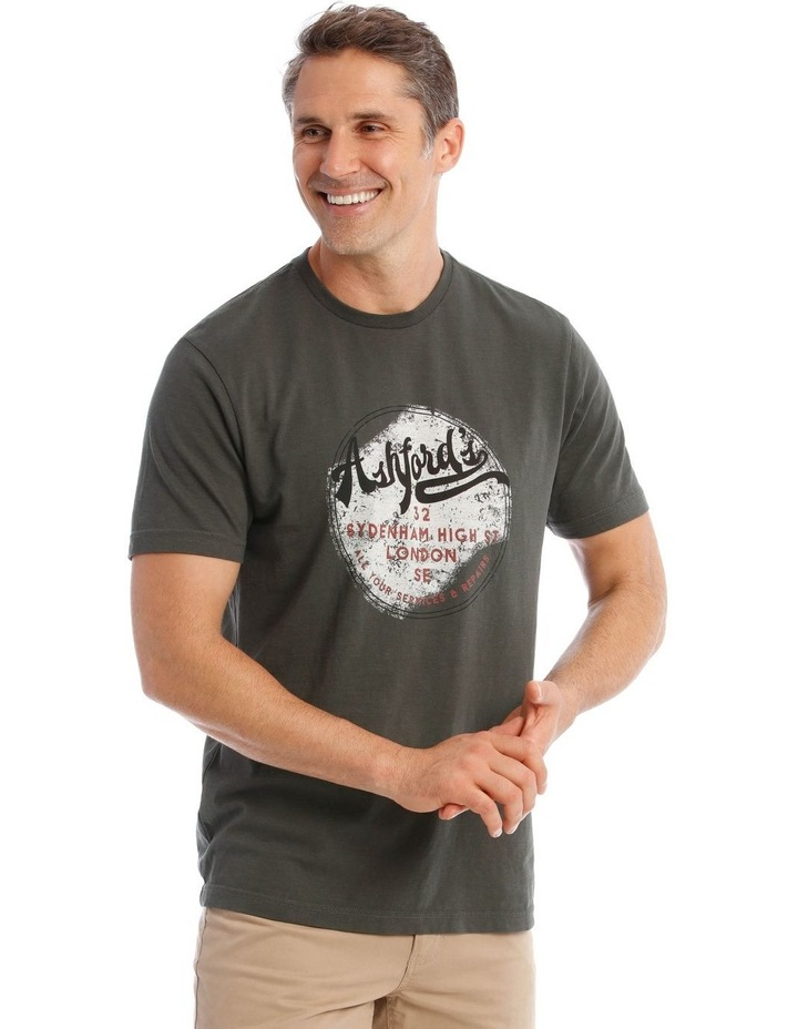 Ashford Graphic T-Shirt in Charcoal image 2