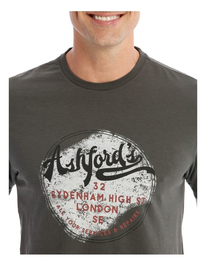 Ashford Graphic T-Shirt in Charcoal image 4