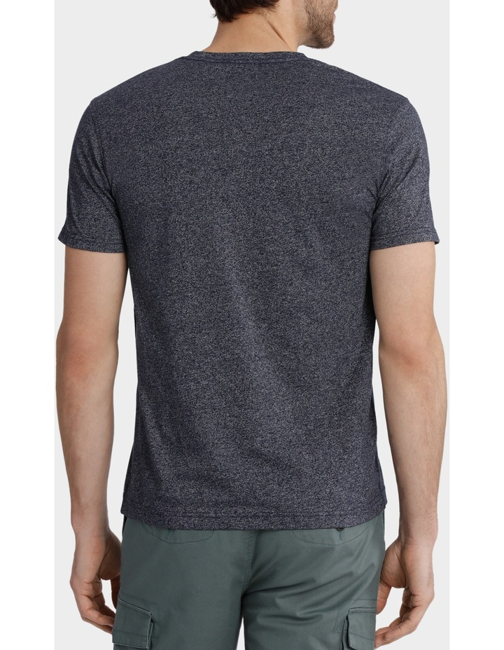 V-Neck Textured Plain T-Shirt image 3