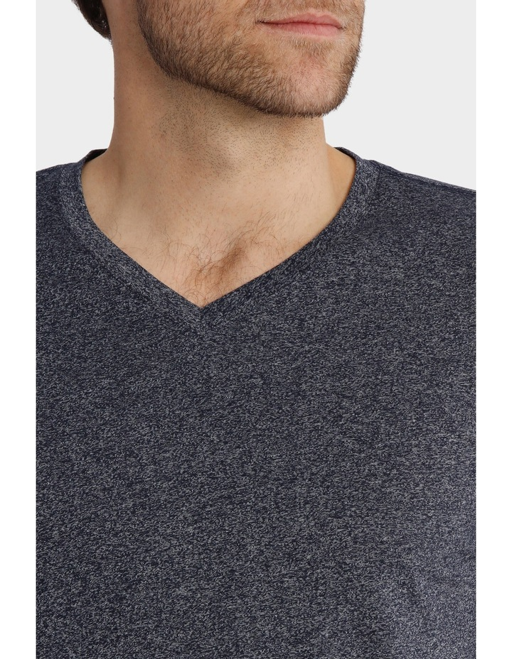 V-Neck Textured Plain T-Shirt image 4