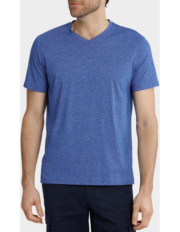 V-Neck Textured Plain T-Shirt image 1