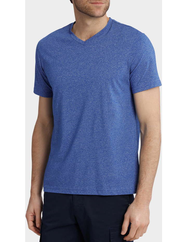 V-Neck Textured Plain T-Shirt image 2