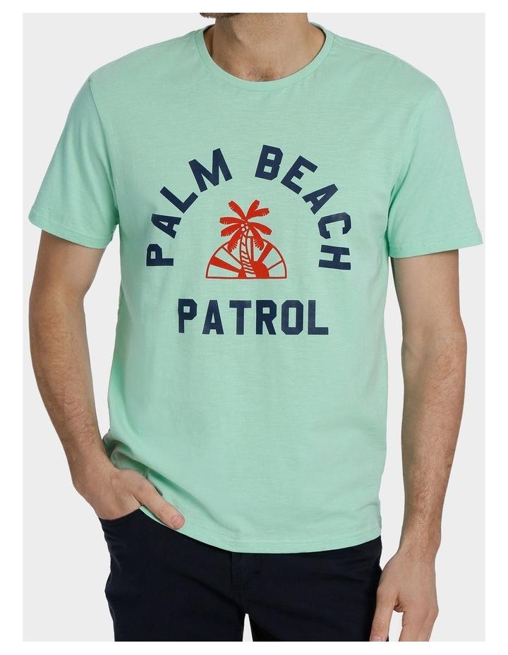 Crew Neck Miami Beach Print Tee image 1