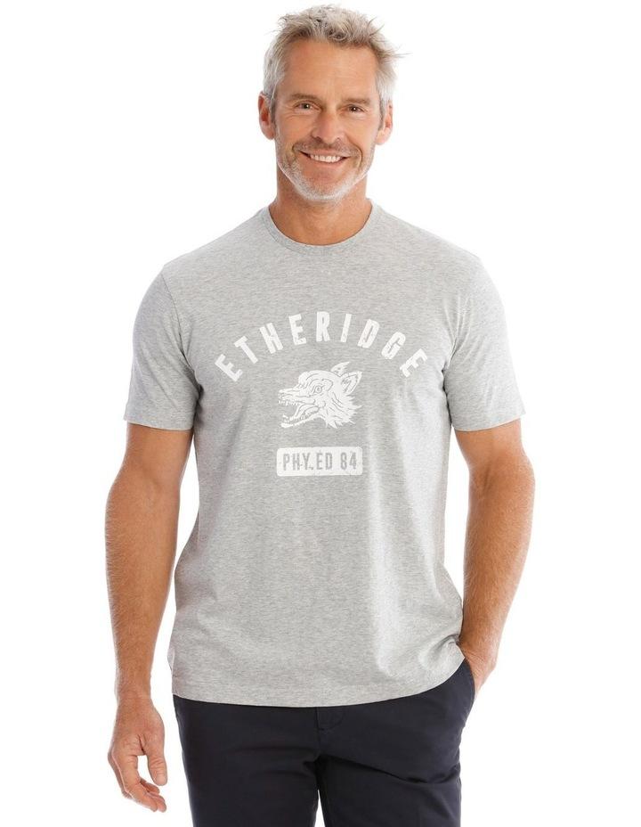 Gym Print T-Shirt in Grey image 1