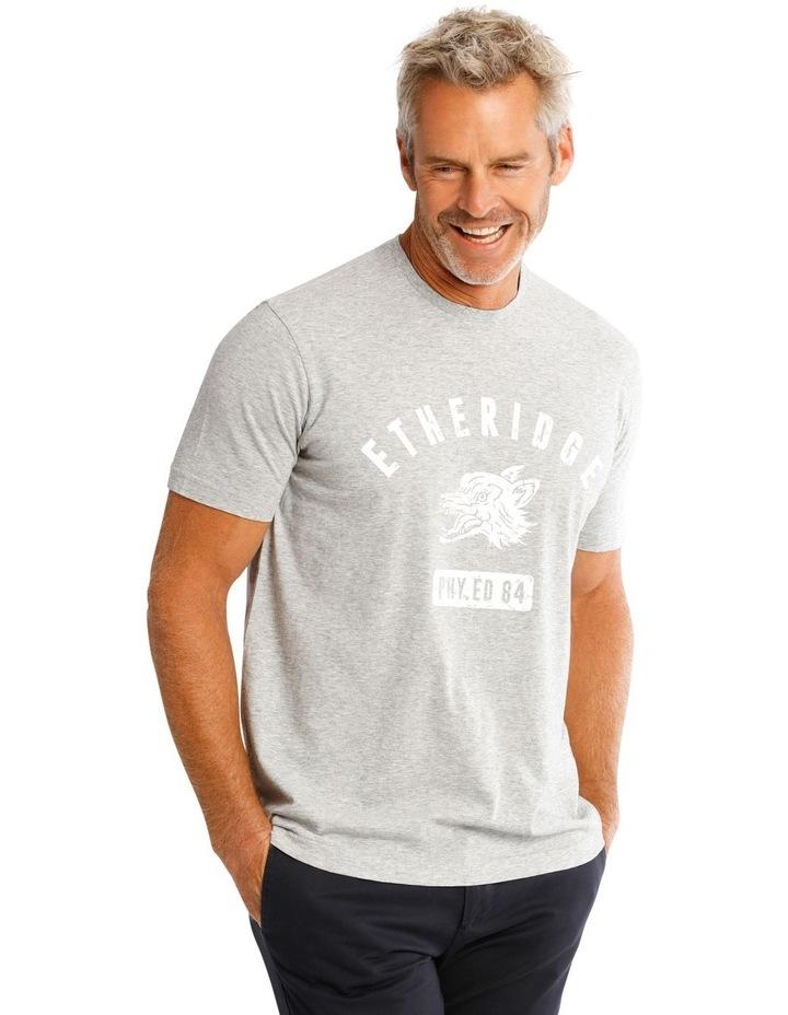 Gym Print T-Shirt in Grey image 2