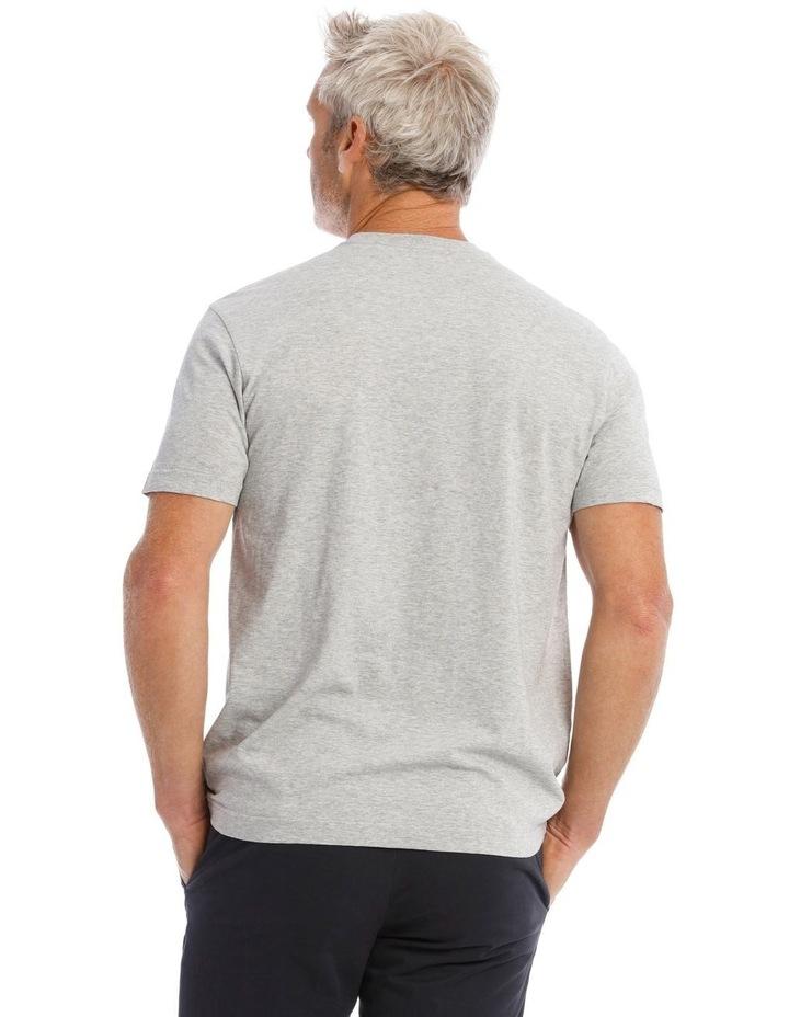 Gym Print T-Shirt in Grey image 3