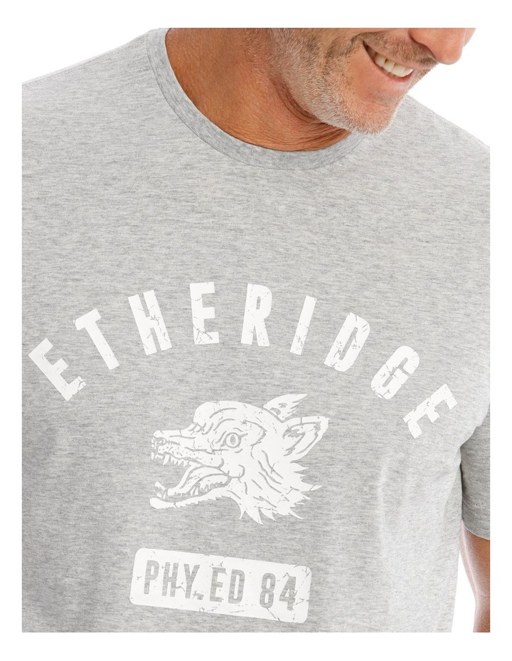 Gym Print T-Shirt in Grey image 4