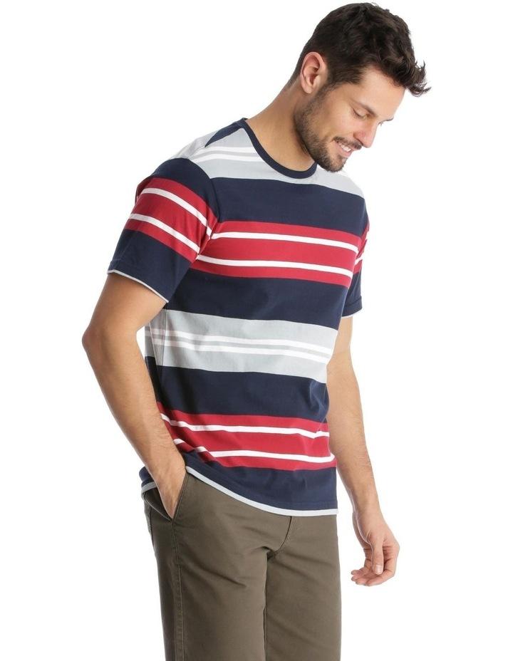 Shipton Stripe T-Shirt - Red/Navy image 2