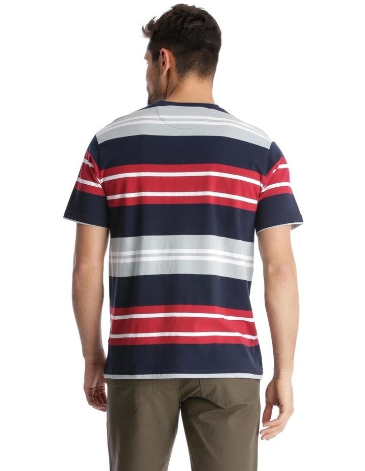 Shipton Stripe T-Shirt - Red/Navy image 3