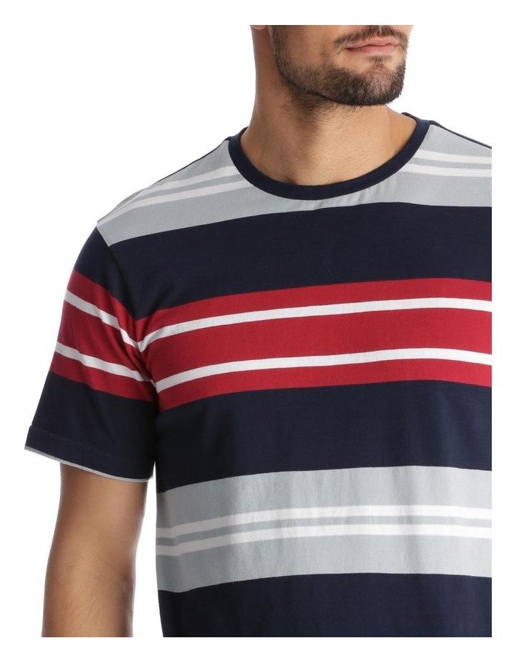 Shipton Stripe T-Shirt - Red/Navy image 4