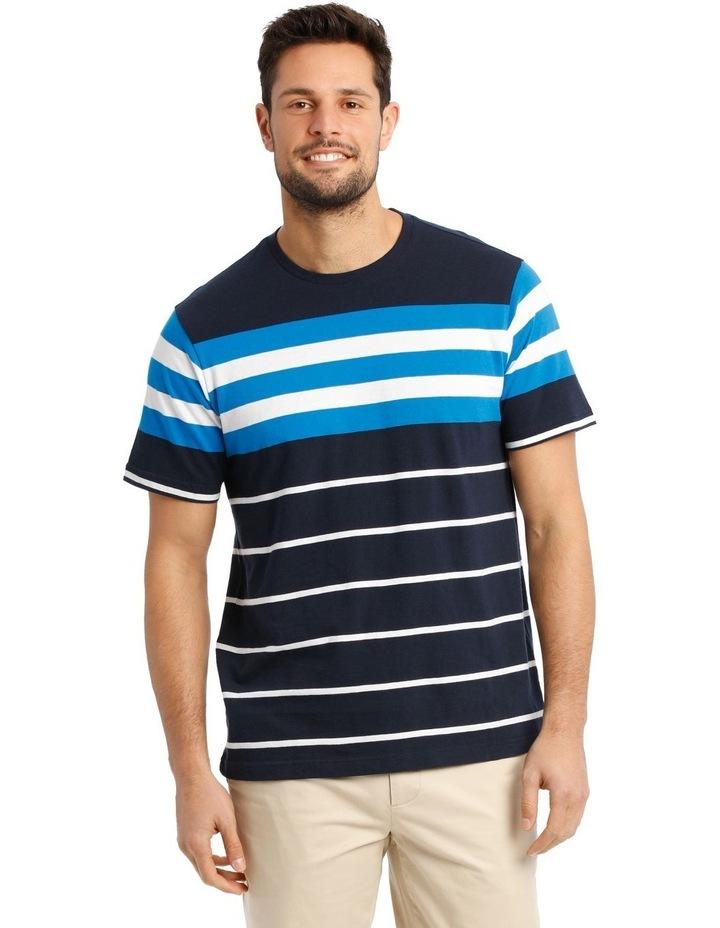 Cliff Stripe T-Shirt - Blue image 1