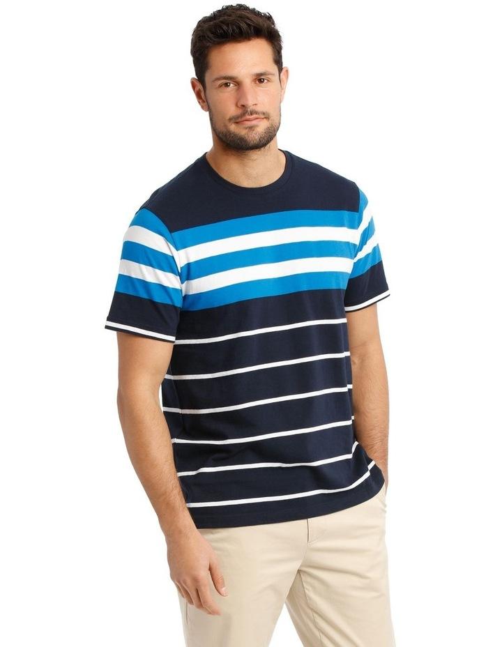 Cliff Stripe T-Shirt - Blue image 2