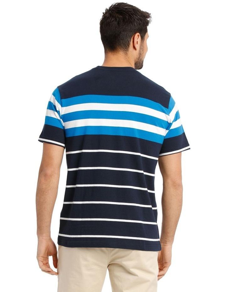 Cliff Stripe T-Shirt - Blue image 3