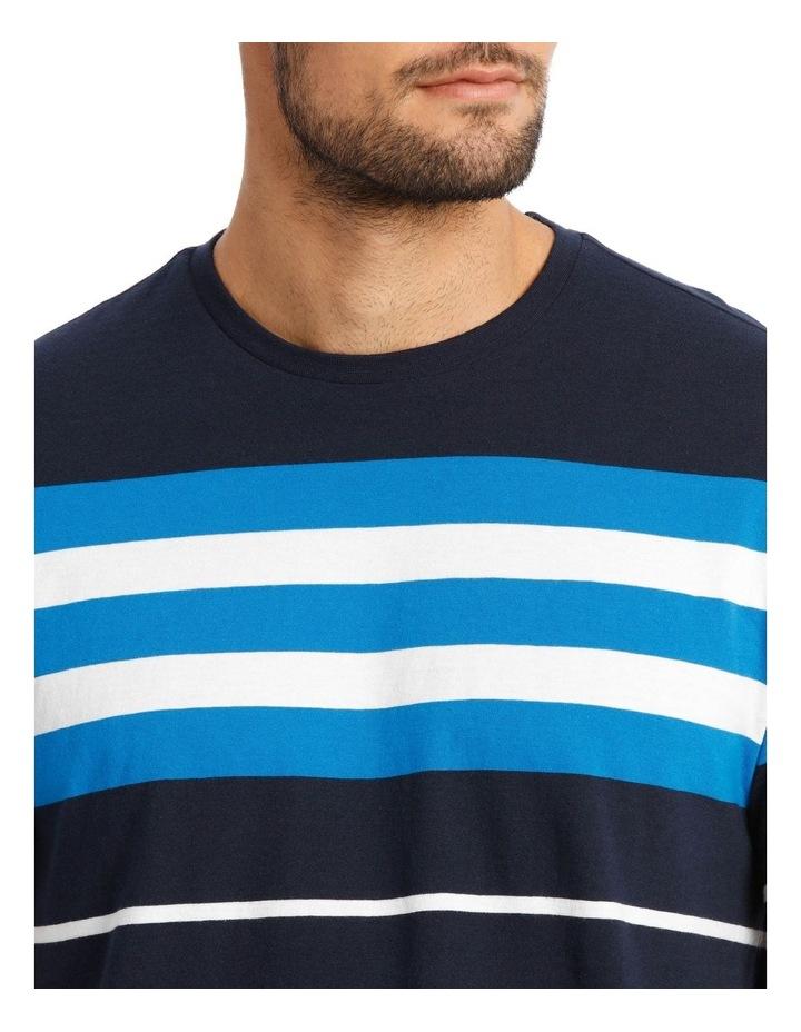 Cliff Stripe T-Shirt - Blue image 4