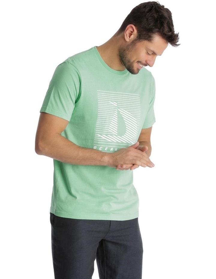 Ocean Wake Print T-Shirt - Green image 2