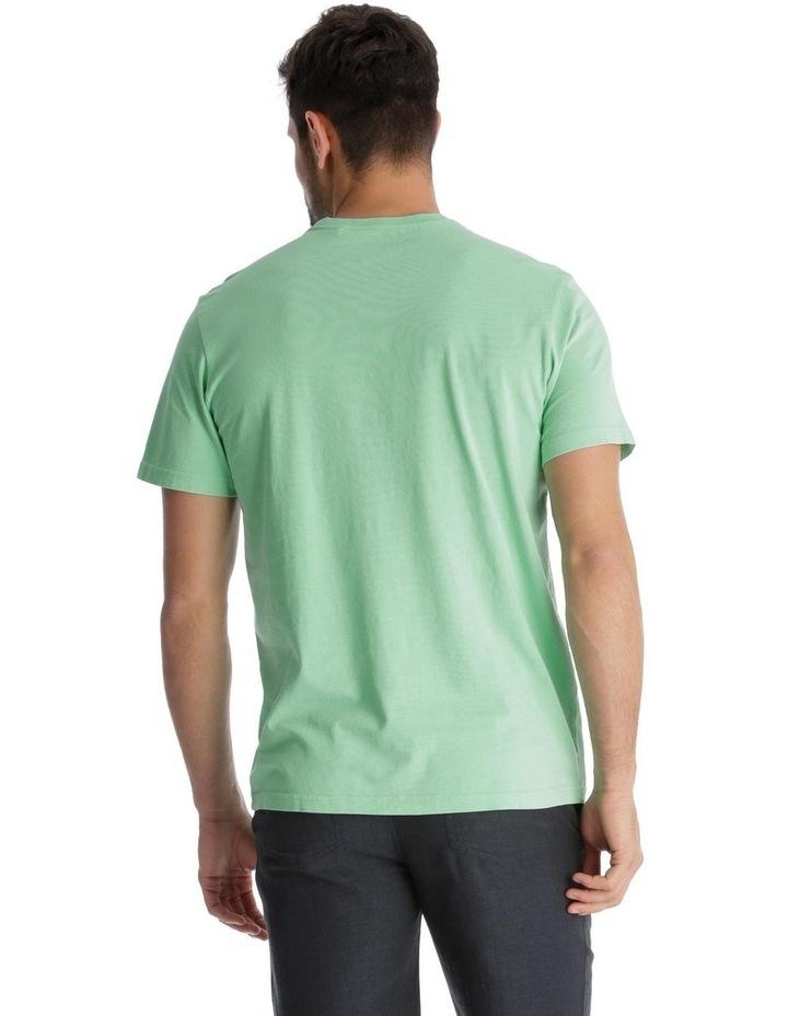 Ocean Wake Print T-Shirt - Green image 3
