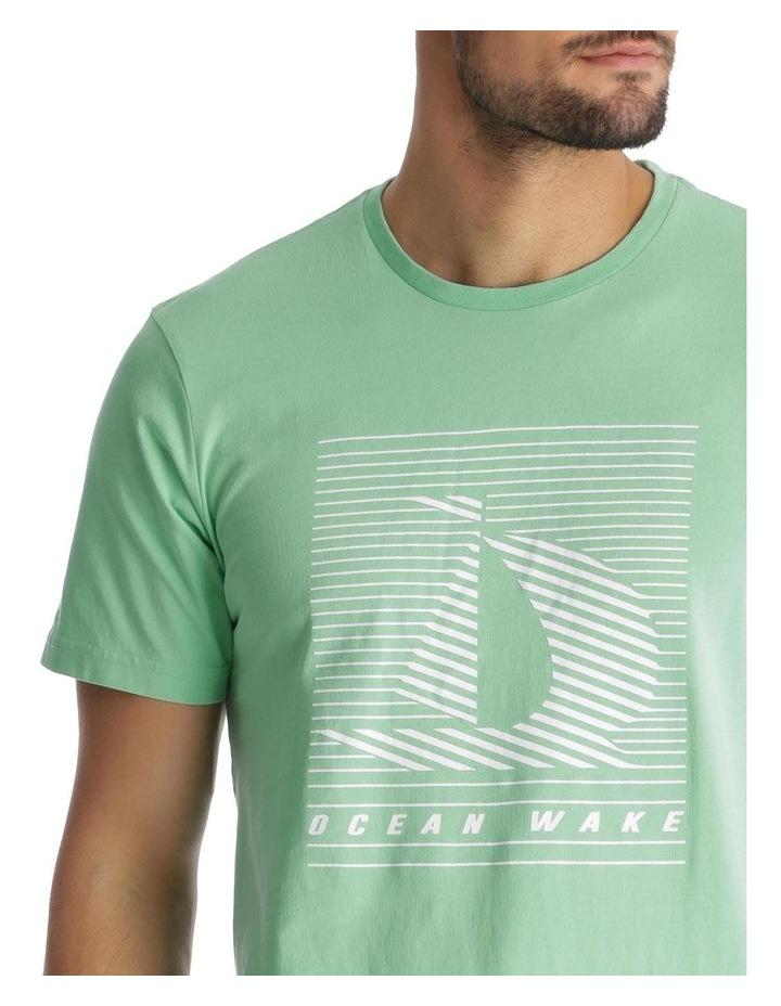 Ocean Wake Print T-Shirt - Green image 4