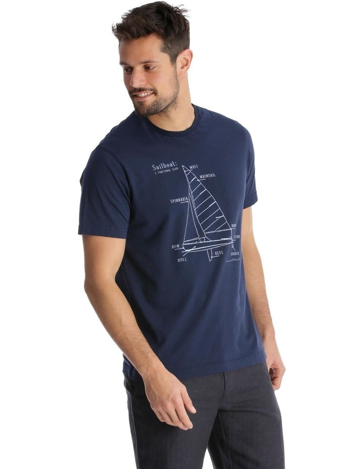 Yacht Diagram Print T-Shirt image 2
