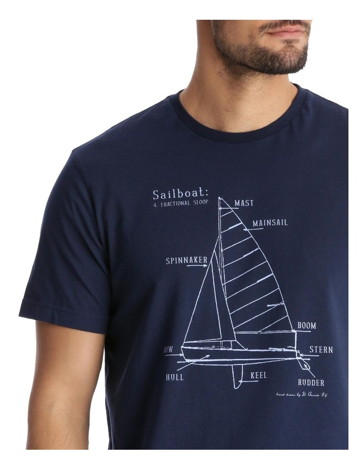 Yacht Diagram Print T-Shirt image 4