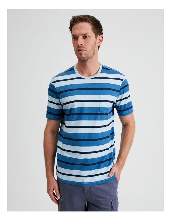 Live by the Ocean Stripe Tee image 1