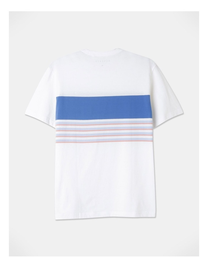 Harrison Yarn Dyed Chest Stripe T-Shirt image 3