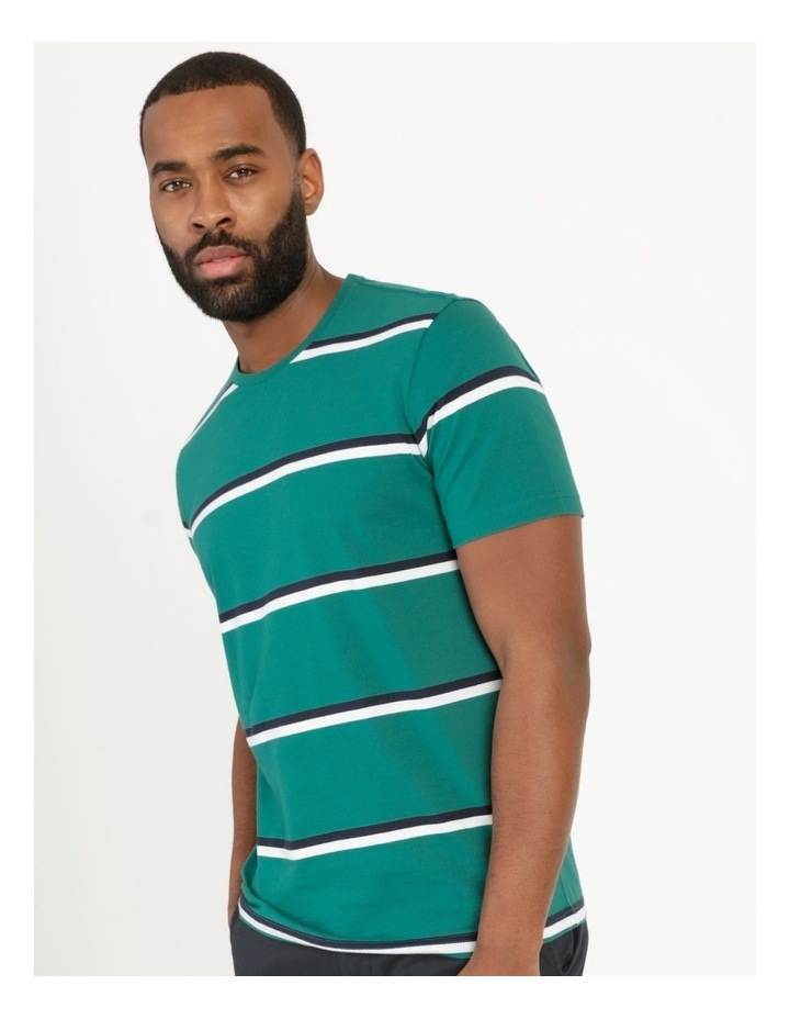 Live By The Ocean Print Stripe T-Shirt image 1