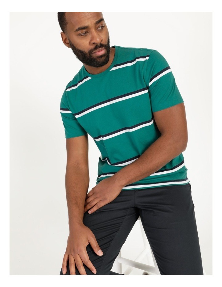 Live By The Ocean Print Stripe T-Shirt image 2