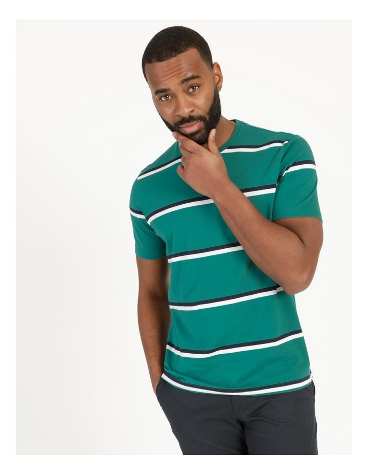 Live By The Ocean Print Stripe T-Shirt image 4