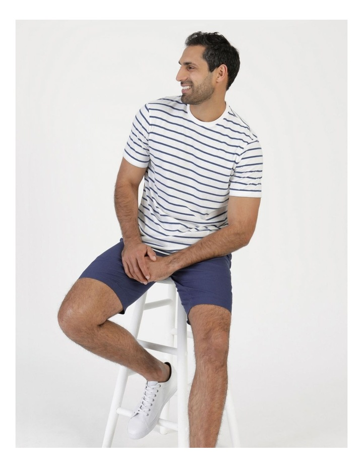 Eddie Indigo Stripe Yarn Dyed T-Shirt image 1