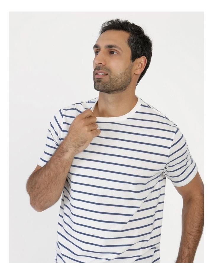 Eddie Indigo Stripe Yarn Dyed T-Shirt image 2
