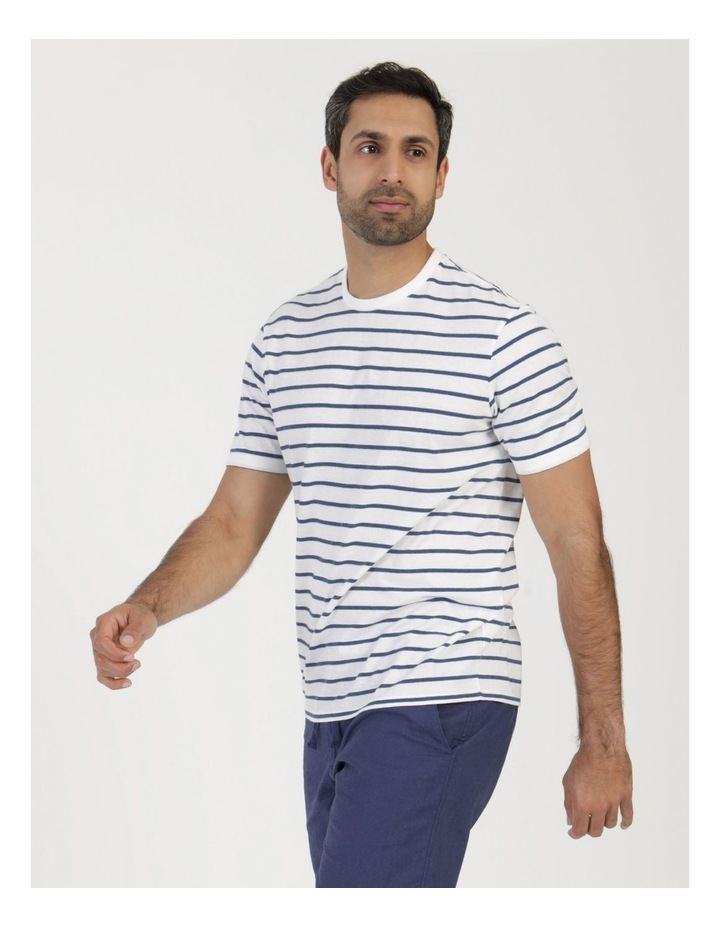 Eddie Indigo Stripe Yarn Dyed T-Shirt image 4