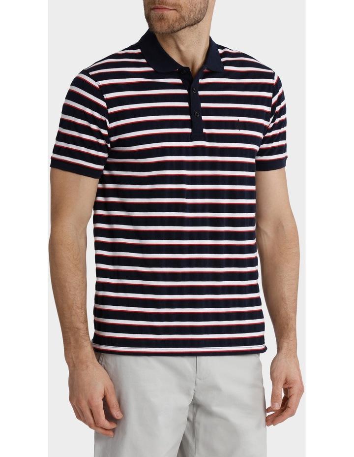 Short Sleeve Pique Stripe Polo image 2