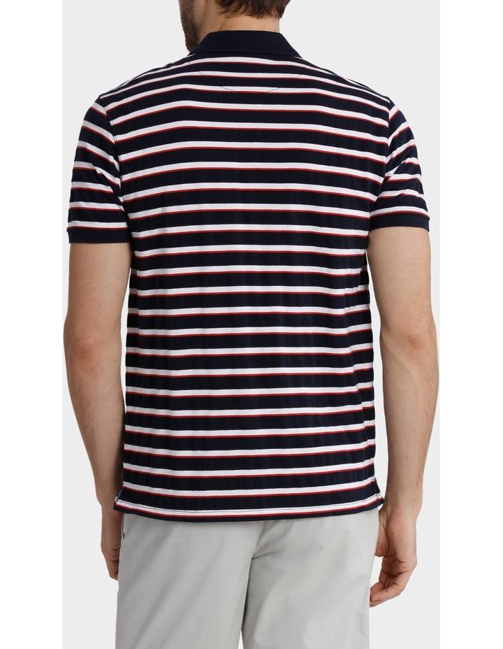Short Sleeve Pique Stripe Polo image 3